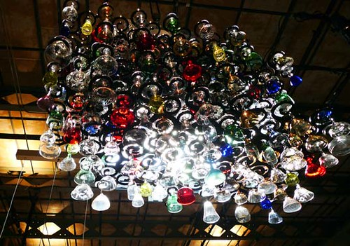 Found Glasses Chandelier by UmProject | by Inhabitat