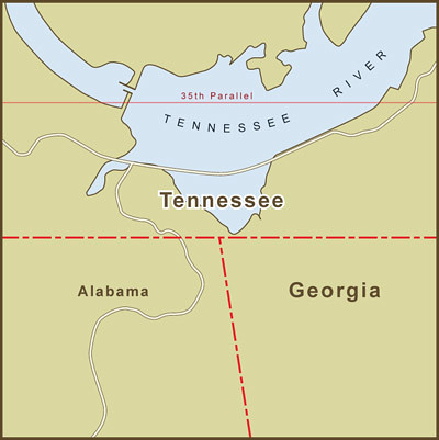 A Map of the Georgia / Tennessee Border Dispute Over Water… | Flickr