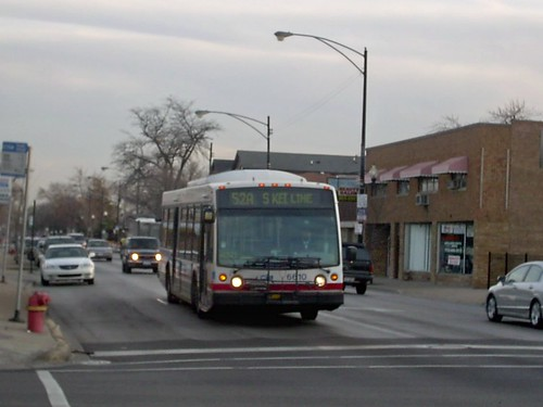 Northbound Cta Route 52a South Kedzie Avenue Bus At The