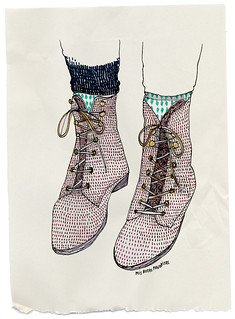 Mis botas favoritas | by littleisdrawing