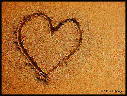 Heart & Sand | by bnilesh