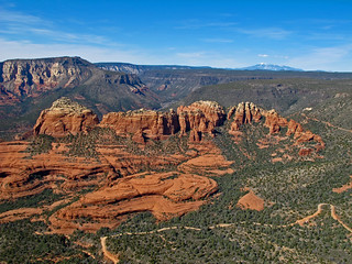 Sedona red rocks by air | by Walt K