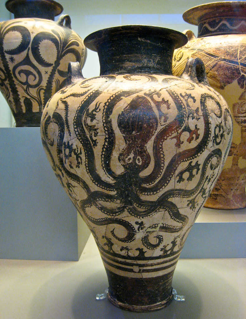Amphora with octopus mycenaean imitation of minoan marine flickr amphora with octopus by sharon mollerus reviewsmspy