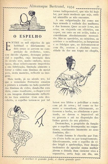 Almanaque Bertrand, 1934 - The Mirror a 2
