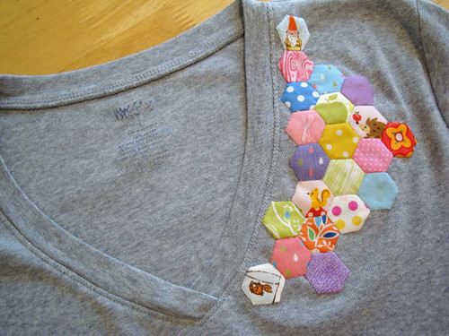 hex tee upclose | by Pink Trees
