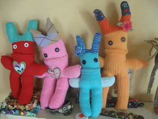 more sock monsters! | by roses&pearls