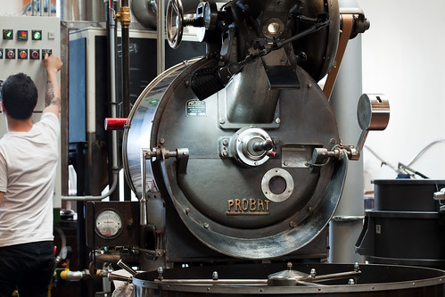 Four Barrel coffee roasting | by Matt Biddulph