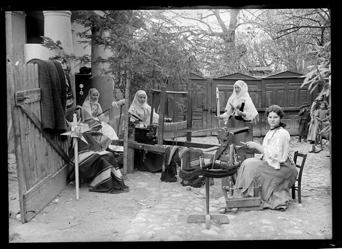 Romanian Women at looms | by George Eastman Museum