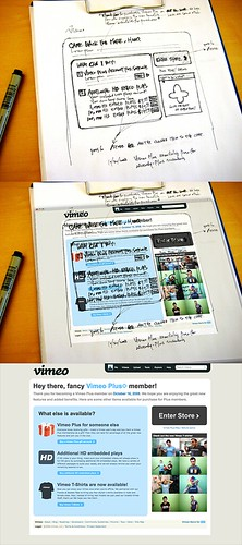 sketch to screen: vimeo plus page | by soxiam