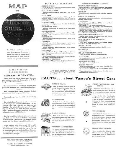 tampa u0026 39 s street car system 1940 u0026 39 s map guide