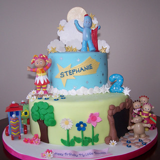 In the night garden cake cake is covered in fondant for In the night garden cakes designs
