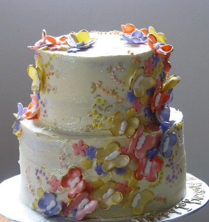 Butterfly Birthday Cake Butterflies Cascading Down The