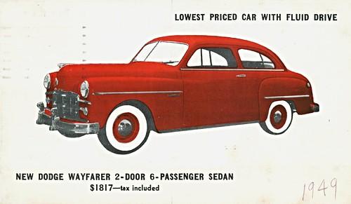 1949 dodge wayfarer 2 door sedan eich motor of new for 1949 dodge 2 door sedan