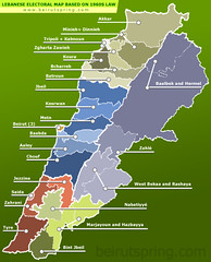 Lebanese Electoral Map Based on 1960s Law | by MESH :: Middle East Strategy at Harvard