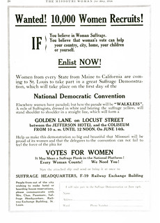 Golden Lane Women's Suffrage ad, 1916 | by Missouri Historical Society