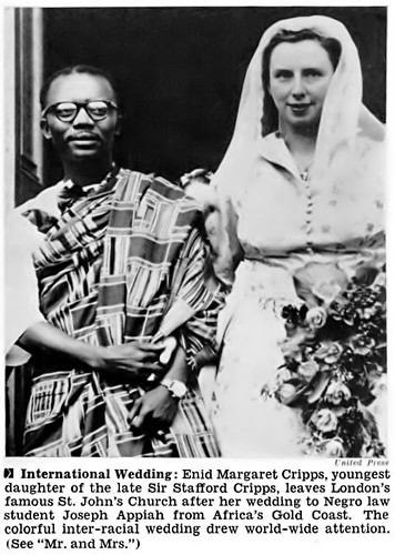 Wedding Photo Of Joseph Appiah And Enid Margaret Cripps -4502