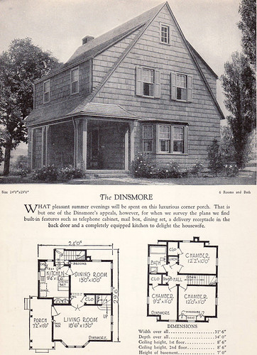 1928 Home Builders Catalog The Dinsmore From The