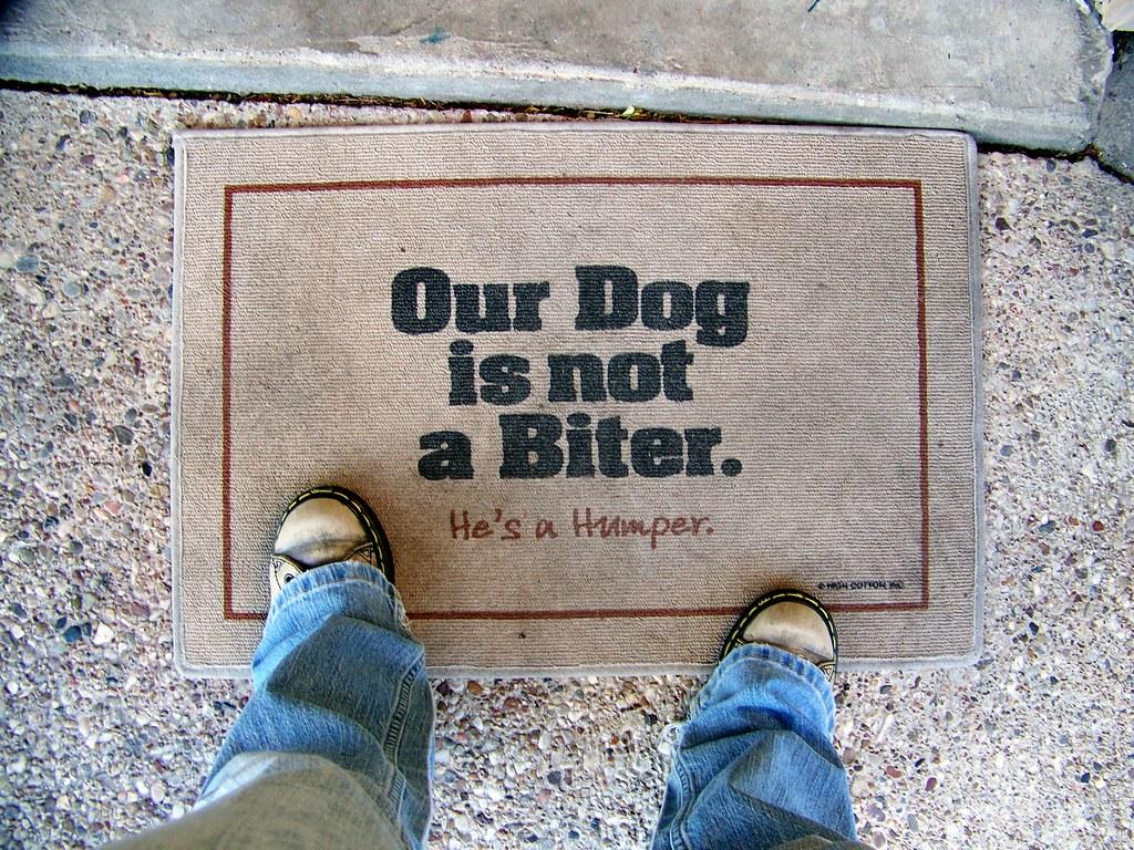 46/365: Best Doormat Ever. | By .krys.