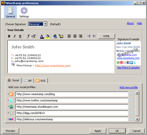 Sample email signature wisestamp12 – Sample Email Signature