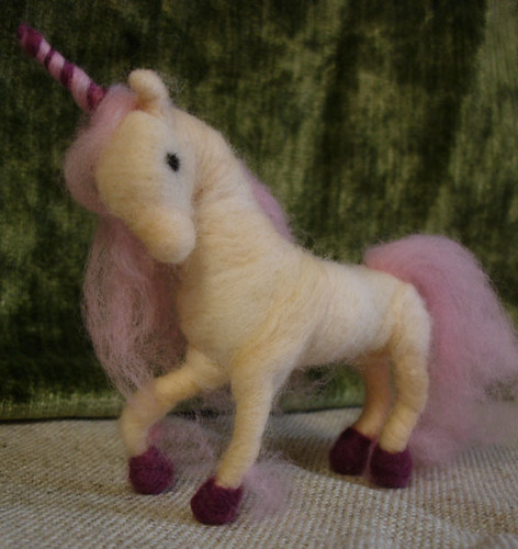 Needle-felted Unicorn (frontview) | by ember_to_phoenix