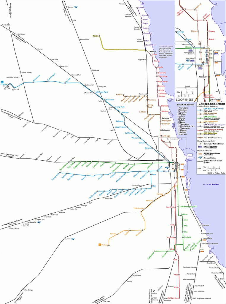 Transit Chicago Map.Chicago Rail Transit Geographically Accurate Map Of Rail T Flickr