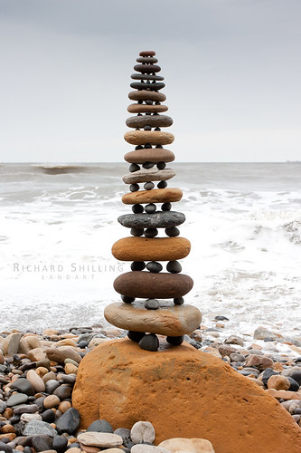 Robin Hood's Bay Pebble Stack | by escher is still alive