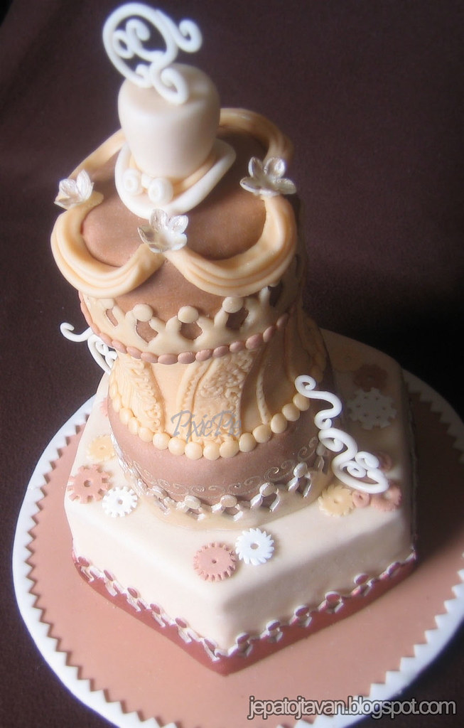 Steampunk Wedding Dress Cake