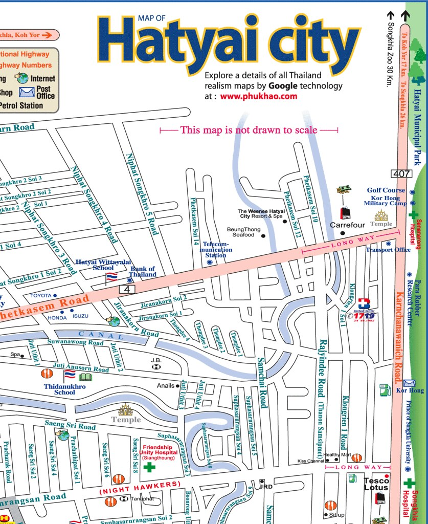 Hat Yai Map 2 philuknethatyaiindexhtml phil uk net Flickr