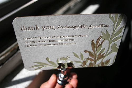 Wedding Favor Card Amazon Conservation Association Donat Flickr