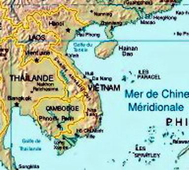 Mer Thailande Carte.Carte De L Indochine Avec Les Iles Paracels Carivaud Flickr