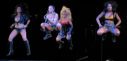 Britney Spears Concert - Girlicious jumping in the air. | by Anirudh Koul