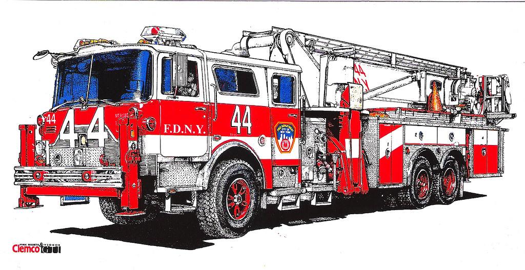 fdny tower ladder 44 1991 mack cf fdny tower ladder 44 mac flickr