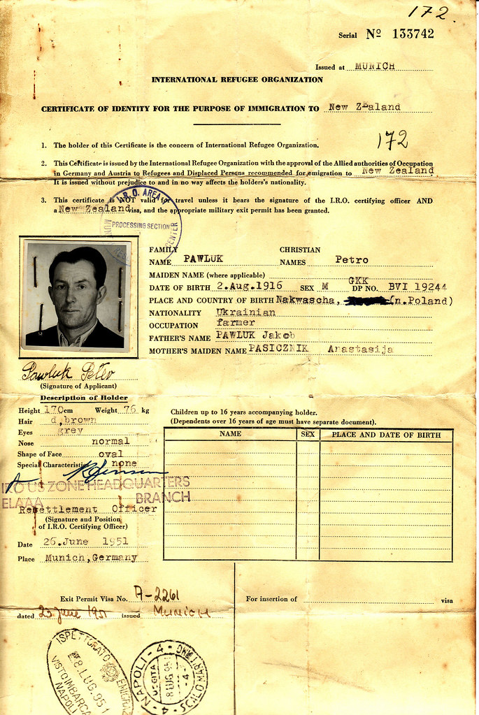 Peter Pawluk International Refugee Organization Certifica Flickr