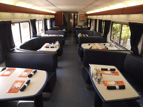amtrak dining car swank new dining digs on the texas eagle ian westcott flickr. Black Bedroom Furniture Sets. Home Design Ideas