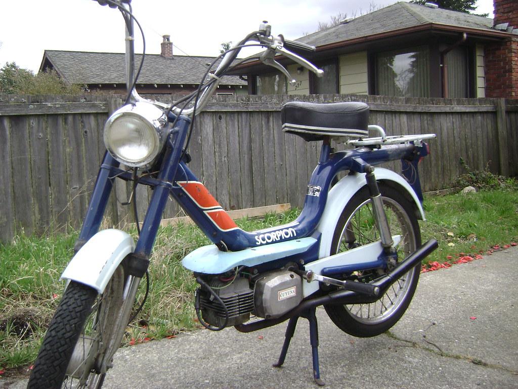 1978 Scorpion 49cc M01 Franco Morini Engine Relabeled As C Cpt