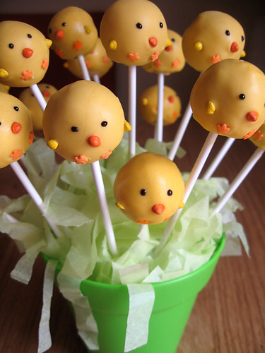 Chick cake pops! | by Olivia @ MooMama