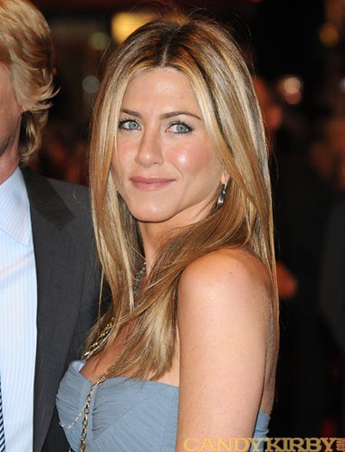 Jennifer Aniston in a Light Blue Dress at the UK Premiere ...