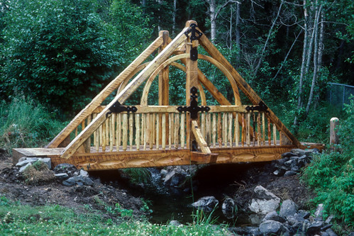 Frame bridge 2 timber frame bridge design by tim forbes for Timber frame bridge