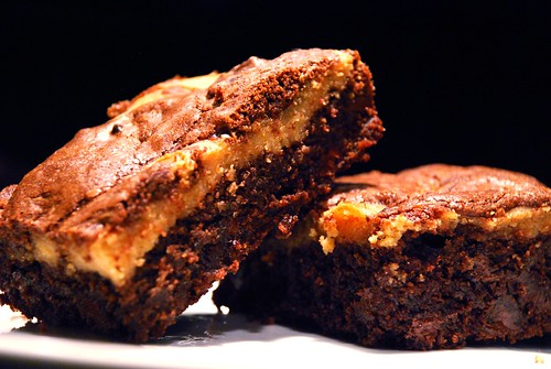 Peanut Butter Brownies Made With Cake Mix
