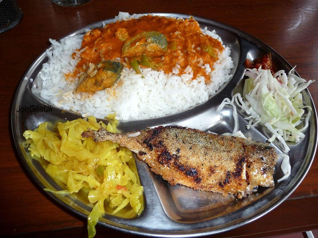 Fish Curry Rice With Rechad Bangdda Rs 40 At D Silva Rest Flickr