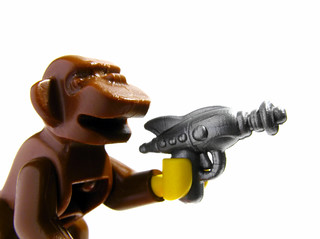 OK, who gave the monkey a ray gun?! | by .solo