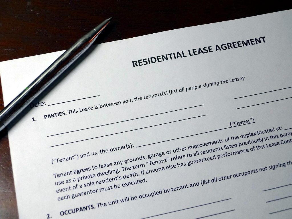 Residential Lease Agreement With Pen Residential Lease Agr Flickr