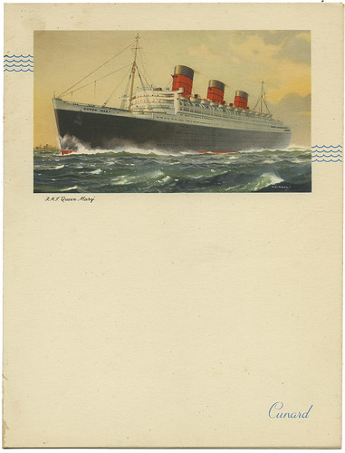 Cunard Menu RMS Queen Mary_June 21, 1954_tatteredandlost | by Tattered and Lost EPHEMERA