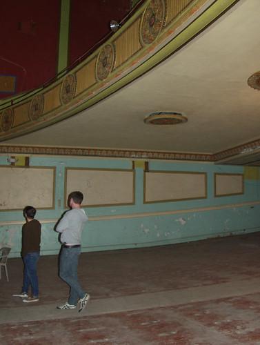 Jayhawk theatre former floor seating space topeka for Flooring topeka
