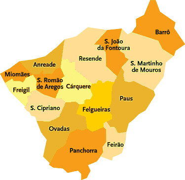 mapa de resende portugal Concelho de Resende | Mapa das Freguesias | Jorge Bastos | Flickr mapa de resende portugal