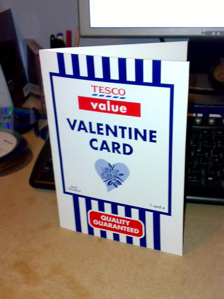 Credit Crunch Valentines Tesco Value Valentines Card Flickr