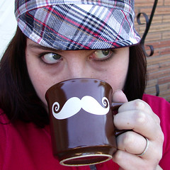 Left-handed Mustache Coffee Mug | by BreadnBadger
