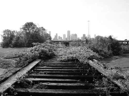 Houston skyline from old mkt railroad trestle over white for 151 west broadway 4th floor phone number