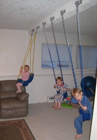 Indoor Swing Set | The kids enjoying the new swing set we in… | Flickr