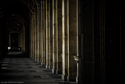 A hall on the outside of the Louvre in Paris | by MDSimages.com
